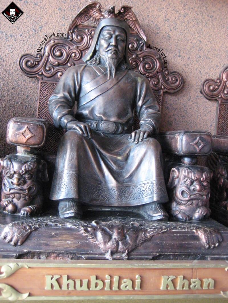 Kubilay Han Heykelinde Oz Tamgası