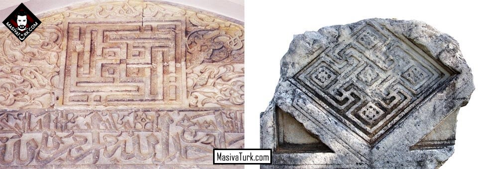 Milas'ta bulunan Svastika sembolleri
